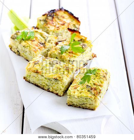 Courgette And Herb Bake Pieces