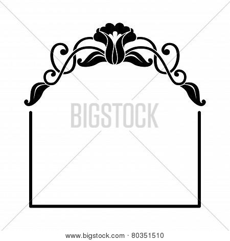 decorative square frame with floral ornament