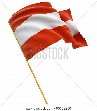 3D Austrian flag (clipping path included)