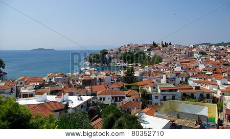 Skiathos town, Greece. Sporades islands.