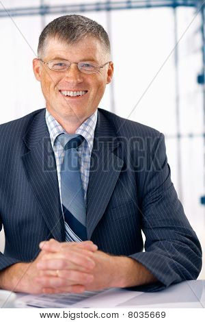 Smiling Elder Businessman.