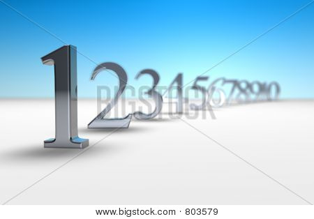 3d number countdown
