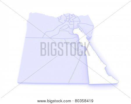 Map of Red Sea (Al Bahr al Ahmar). Egypt. 3d