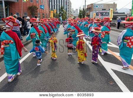 Young and Adult Japanese Dancers  at a Dance Festival