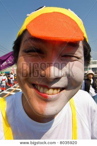 Japan Festival Dancer in Face Makeup