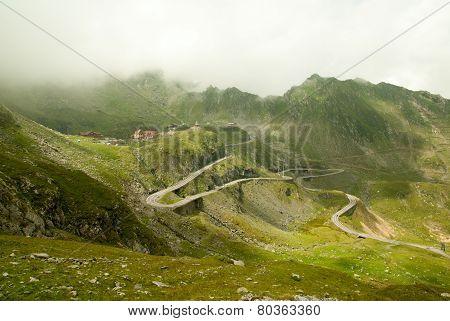 Transfagarasan area in Romanian Carpathians