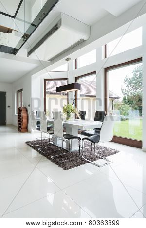 Dining Area In Designed House