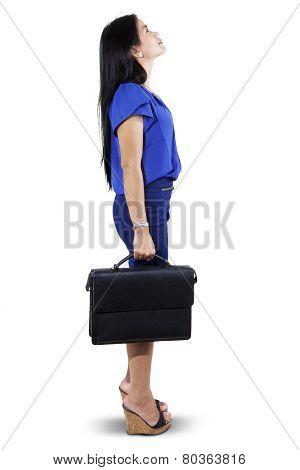Entrepreneur With Briefcase Looking Copyspace