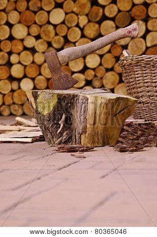 Ax and firewood