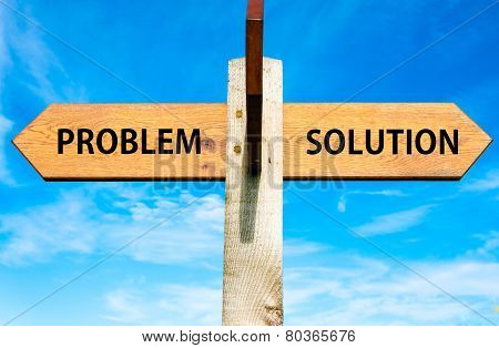 Problem versus Solution messages