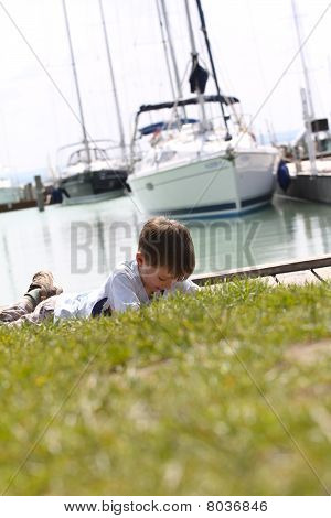 Boy in Balaton-port