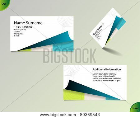 New Bright White Business Card Layout