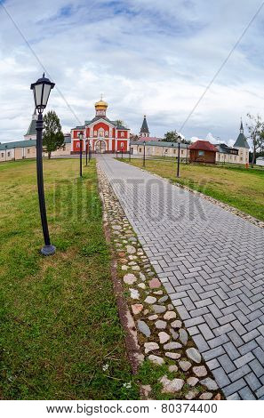Russian Orthodox Church. Iversky Monastery In Valdai, Russia.