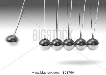 Silver pendulum