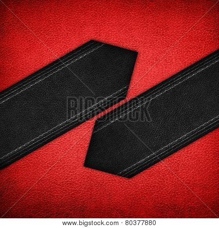 red leather with black strip