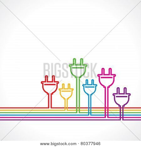 Colorful electric plug background stock vector