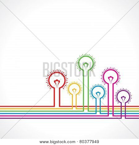 Colorful Light-bulb background stock vector