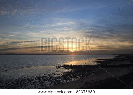 Sunset Off Canvey Island, Essex, England