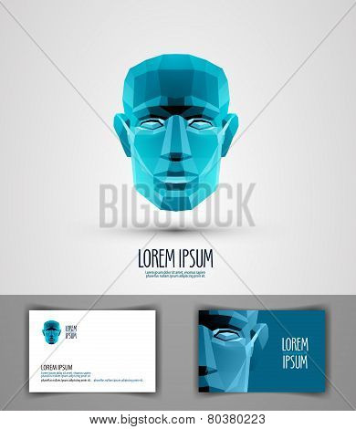 human vector logo design template. head or robot icon.