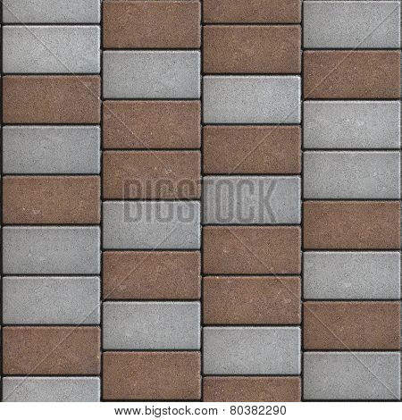 Rectangular Paving Slabs Laid as Zigzag. Seamless Texture.
