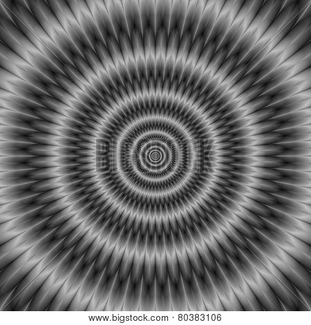 Concentric Rings In Monochrome