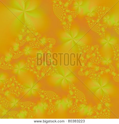 Floral Spirals In Orange And Yellow