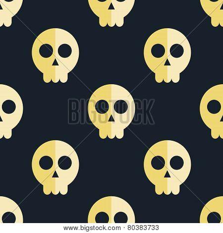 seamless pattern skulls background