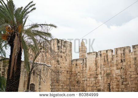 Old City Wall In Jerusalem