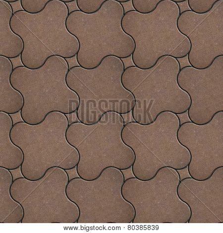 Brown Brick Pavers. Seamless Texture.