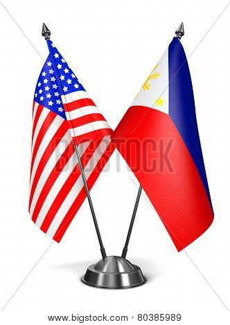 USA and Philippines - Miniature Flags.