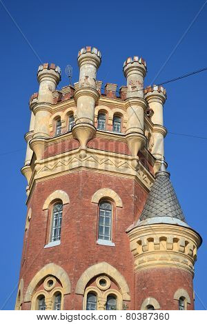Water (pristrelnaya) Tower In The Gothic Style.