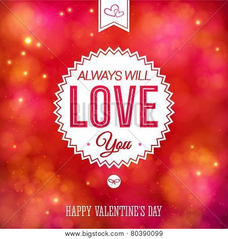 Tender colorful Valentines Day card design