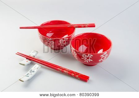 Bowl And Chopstick. Chinese Bowl And Chopstick