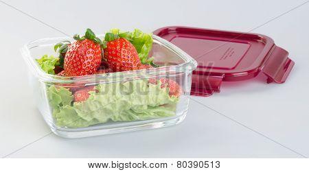 Fresh Strawberries On Background