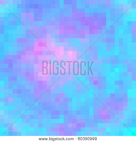 Abstract Square Multicolored Tiled Mosaic