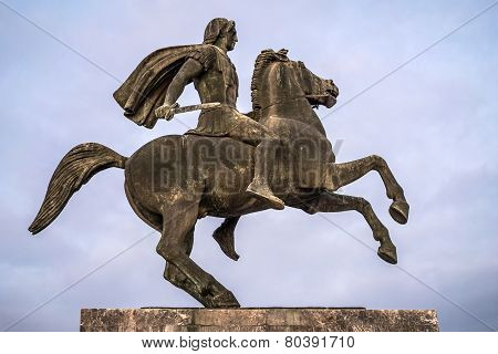 Alexander The Great Statue, Thessaloniki, Greece