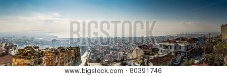 Panorama Of Thessaloniki City, High Detail Large Image.