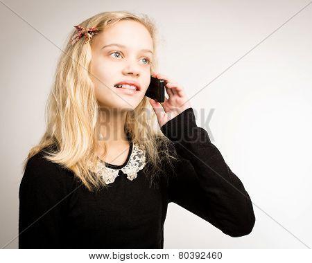 Teenage Girl Talking On Her Phone