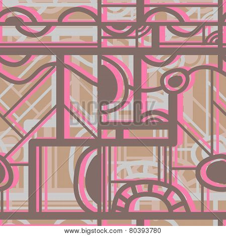 Seamless Color  Pattern. Vector Illustration