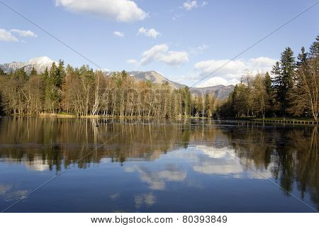 Alpine Lake Reflection