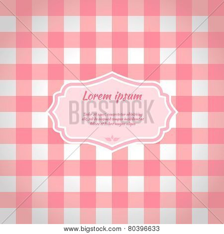 Pink Checkered Picnic Tablecloth