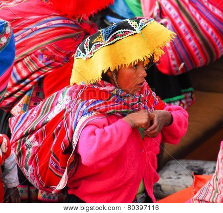 Peruvian Woman Around Lake Titicaca, Peru