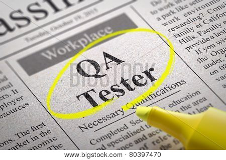 QA Tester Jobs in Newspaper.