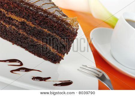 Chocolate Cake on Orange