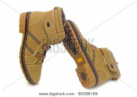 Winter Boots For Women On White Background.