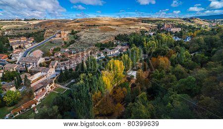 Views from Alcazar, Segovia, Spain.