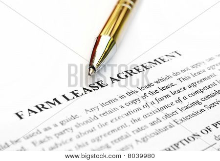 Farm lease agreemnt