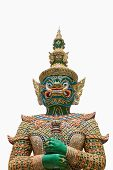 image of ravana  - The Isolated of Giant Ravana Statue in White Background at Wat Phra Si Rattana Satsadaram  - JPG