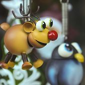 picture of rudolph  - A Handmade Rudolph the Red Nosed Reindeer Christmas Ornament with a Penguin - JPG