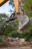 picture of bulldozer  - Close up of a construction bulldozer claw - JPG